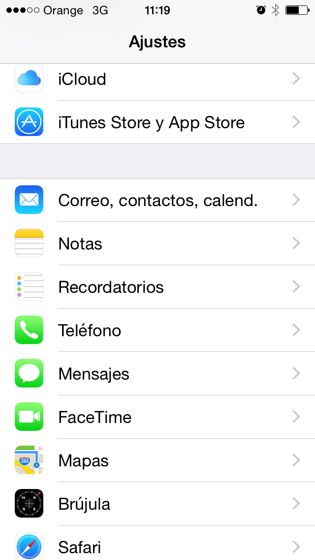 Configurar correo iphone ios 8